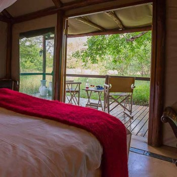 Chapungu Luxury Tented Camp Tent View