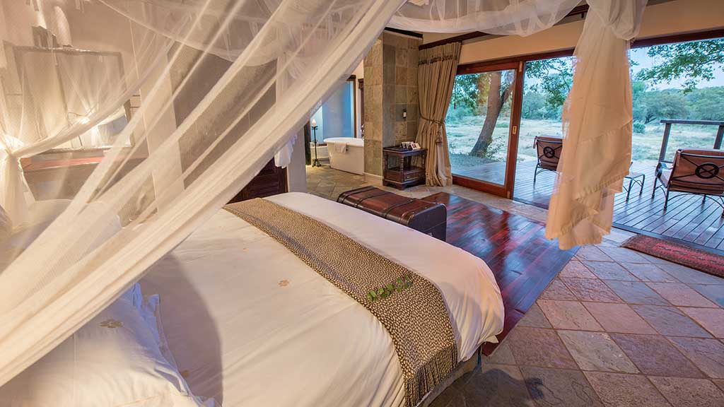 Shumbalala Game Lodge Superior Suite Bedroom Interior