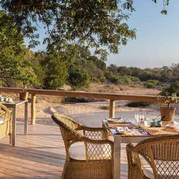 Thornybush Game Lodge Deck River Views