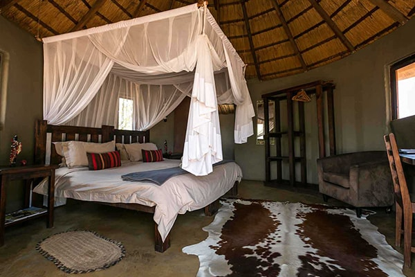 Africa on Foot Chalet Bedroom