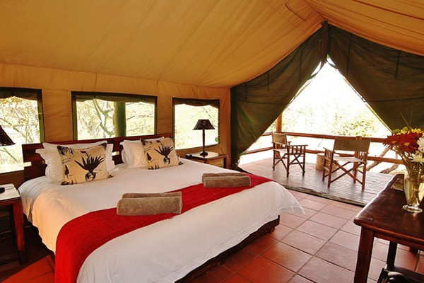 Sausage Tree Safari Camp Tent Interior