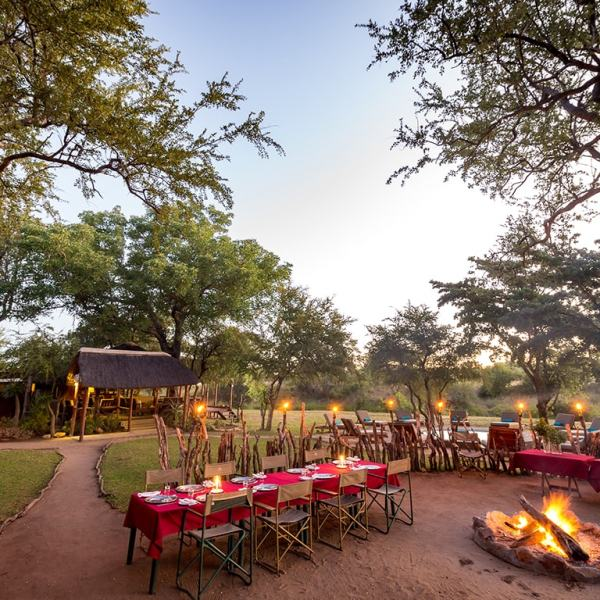 Shindzela Tented Safari Camp Bush Dining