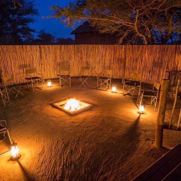 nThambo Tree Camp Boma Fire