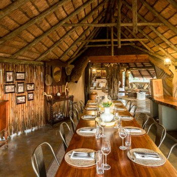 Africa on Foot Dining Area