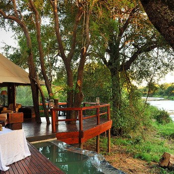 Hamiltons Tented Camp Deck and Pool
