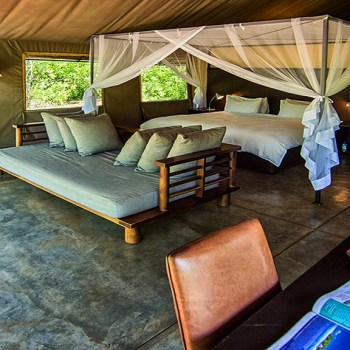 Honeyguide Khoka Moya Camp Spacious Tent Interior
