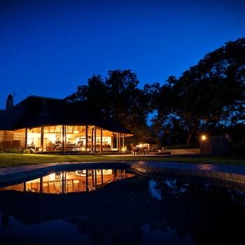 Jackalberry Lodge Pool At Night