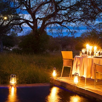 Makanyi Private Game Lodge Poolside Dining
