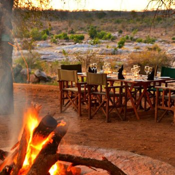 Mjejane River Lodge Evening Outdoor Dining