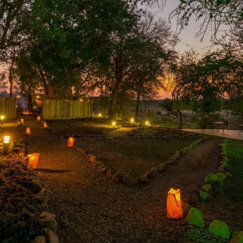 Mjejane River Lodge Grounds Evening