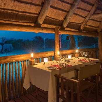 Nkaya Lodge Deck Dining
