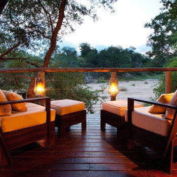 Rhino Post Safari Lodge Bedroom Deck