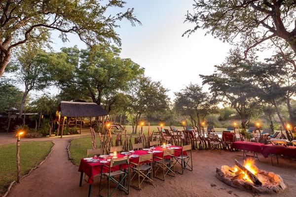 Shindzela Tented Safari Camp Bush Dining