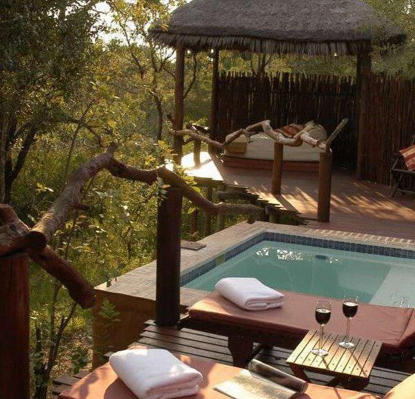Simbambili Game Lodge Room Deck
