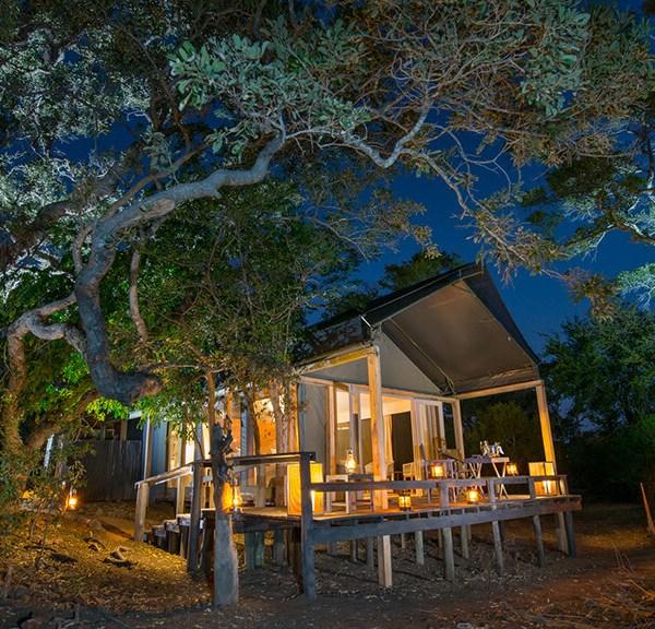 Simbavati River Lodge Luxury Safari Tent Exterior