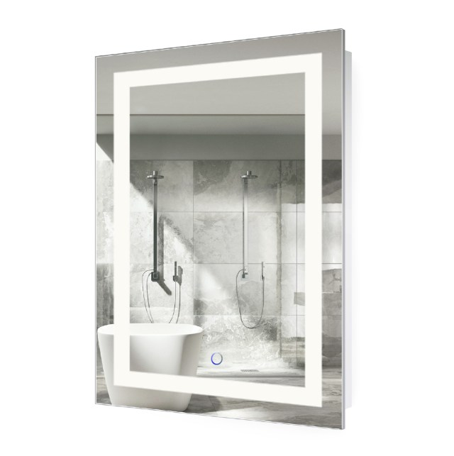 LED Lighted 24″x36″ Bathroom Mirror With Dimmer & Defogger