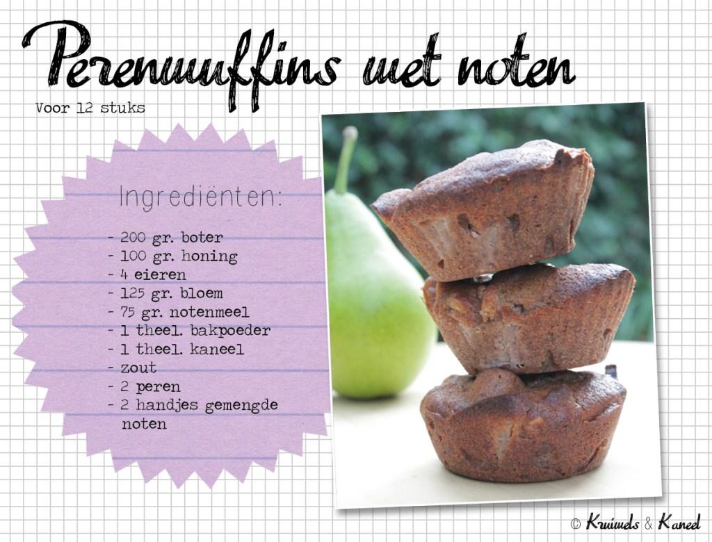 perenmuffins met noten