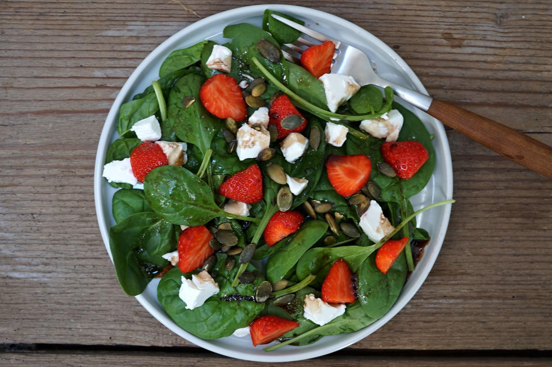 spinazie aardbei salade 3