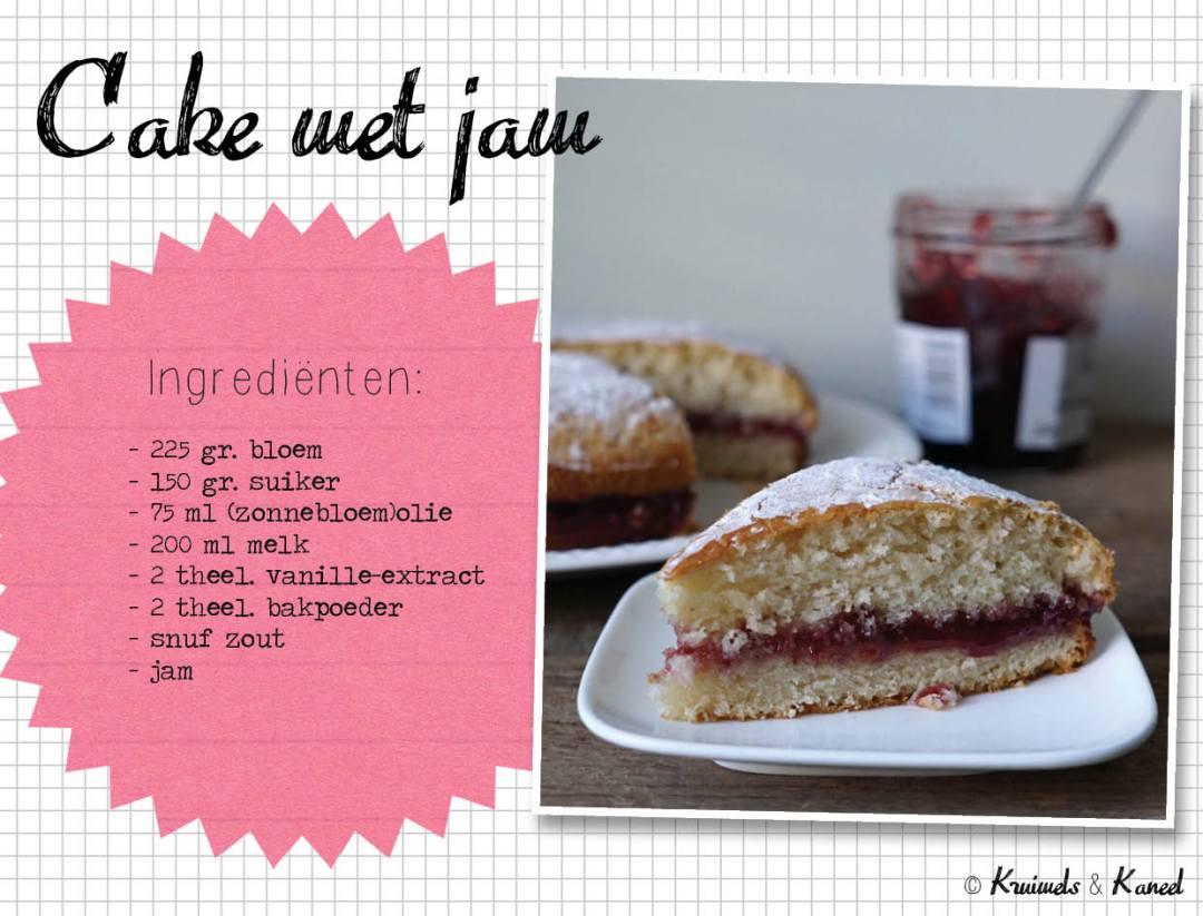 cake met jam
