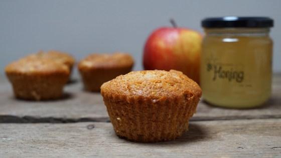 appelmuffins met honing