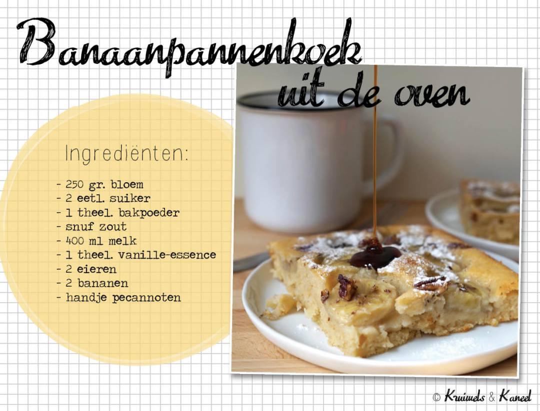 banaan pannenkoek uit de oven
