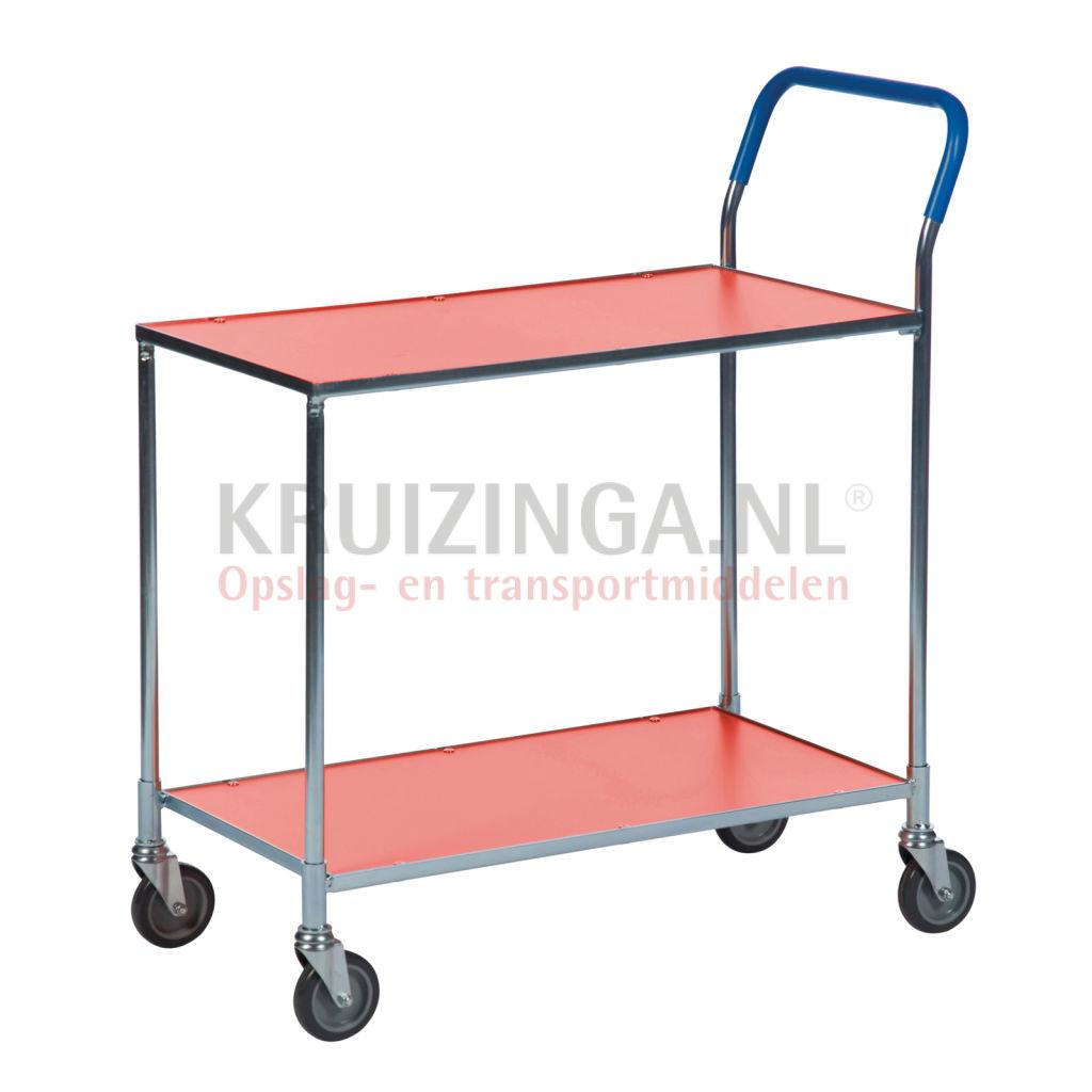 nouveau chariot de manutention chariot a plateaux chariot de table 1 barre de poussee