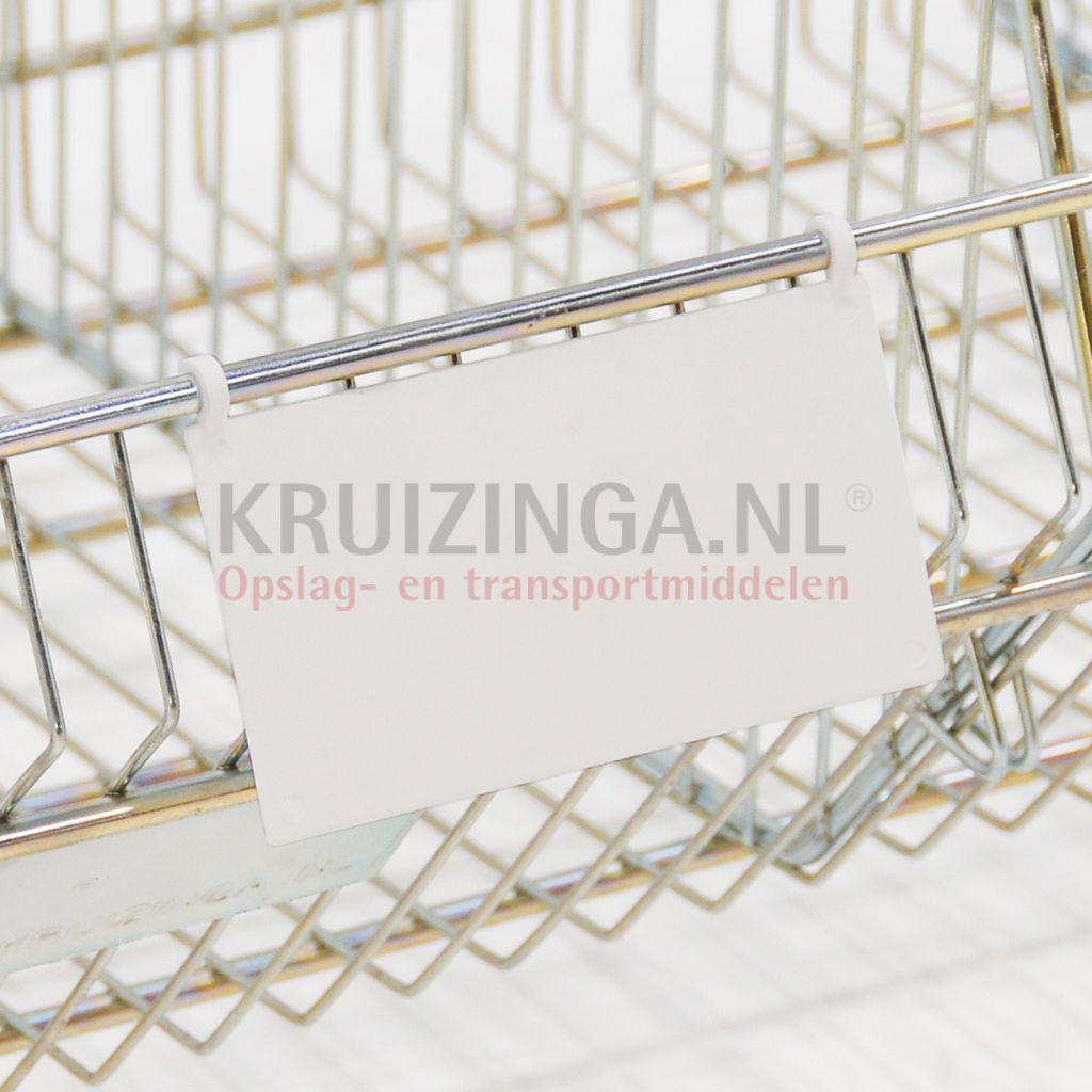 Plastic Pocket Label Holder Wire Basket Label Holder 0 85 Kruizinga En