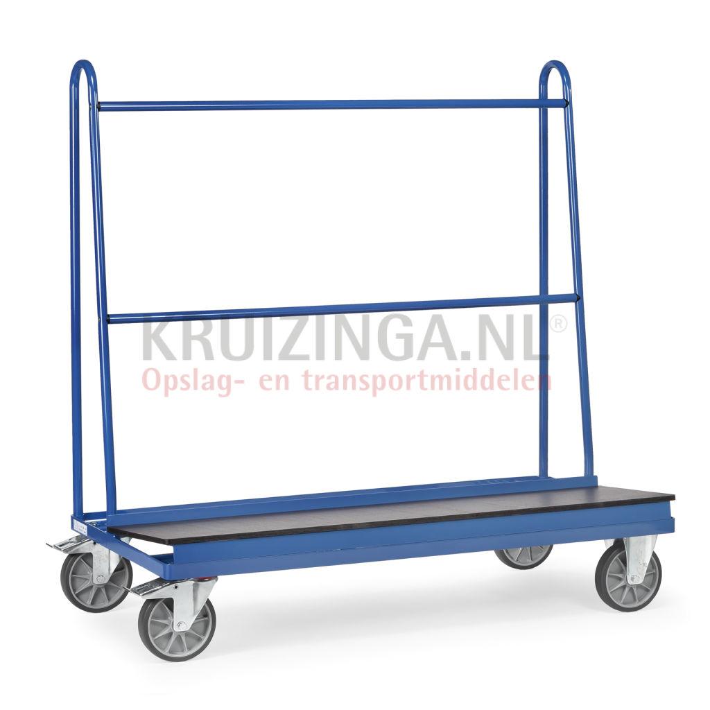 chariot porte verres et porte panneaux fetra chariot pour vitres et panneaux a 1 plateau 1 face