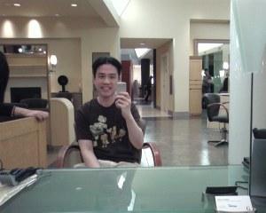 midway through haircut