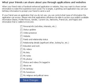 facebook friends share settings