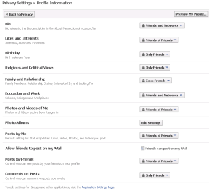 facebook profile privacy