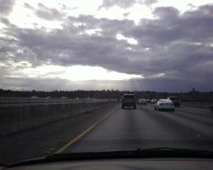 sunlight through clouds
