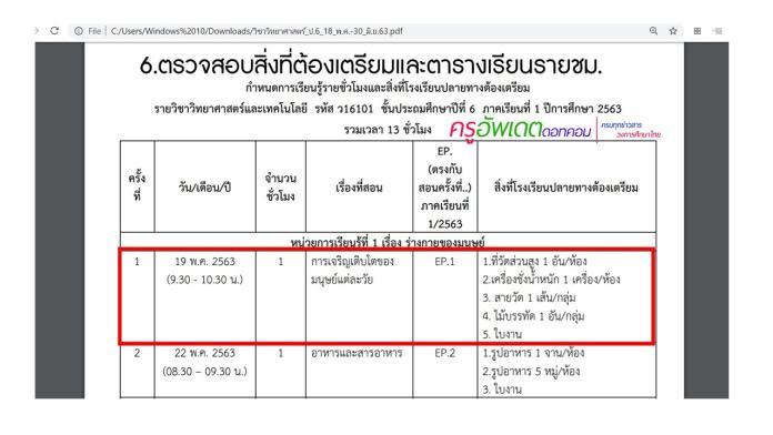 วิธีดาวน์โหลด กำหนดการเรียนรู้รายชั่วโมง การเรียนทางไกล DLTV และสิ่งที่ต้องเตรียม ทุกระดับชั้น