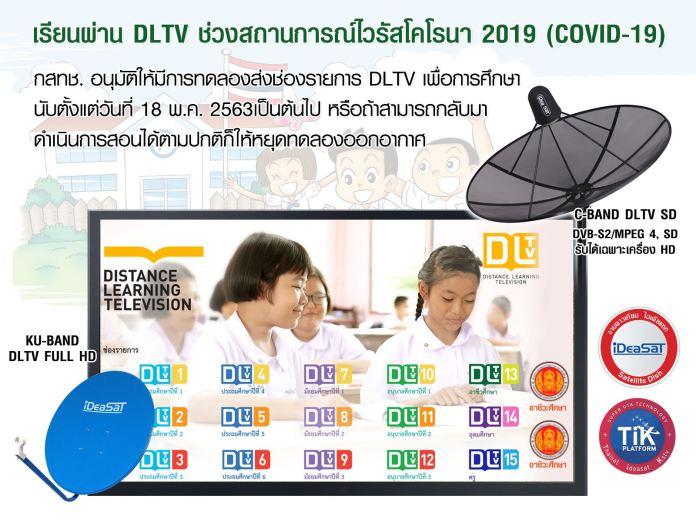 ประเภทจานดาวเทียม และช่องออกอากาศ การจัดการเรียนการสอนทางไกล DLTV 17 ช่อง