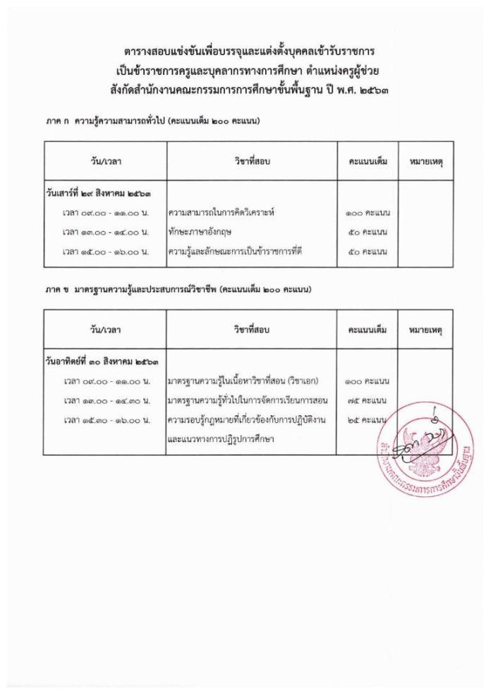 รวมลิงก์ ประกาศรายชื่อผู้มีสิทธิ์สอบ ครูผู้ช่วย(รอบทั่วไป) ครบทุก กศจ. ทั่วประเทศ ประกาศภายใน 6 สิงหาคม 2563 สวัสดีค่ะ คุณครูทุกท่าน วันนี้ครูอัพเดตดอทคอม ได้จัดทำ รวมลิงก์ ประกาศรายชื่อผู้มีสิทธิ์สอบ ครูผู้ช่วย(รอบทั่วไป) ครบทุก กศจ. ทั่วประเทศ ประกาศภายใน 6 สิงหาคม 2563 สำหรับว่าที่ครูผู้ช่วยที่ต้องการข้อมูลในการสมัครสอบหรือ ว่าข้อมูลจำนวนบุคคละในแต่ละวิชาเอกของแต่ละ กศจ.ที่เปิดสอบ