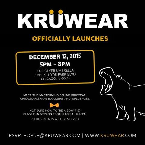 #JoinTheKru for #kruwear #launch #party #Chicago #fashionblogger #lifestyleblogger #RSVP: popup@kruwear.com