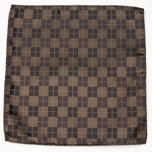 Pocket Polyester Brown Argyle Pattern