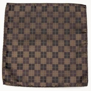 Pocket Polyester Brown Argyle Pattern