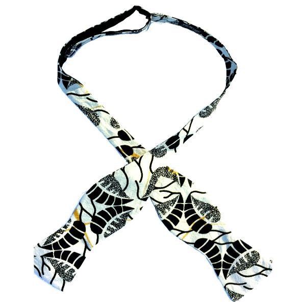 Monrovia, an African print cotton self-tie bow tie by Kruwear