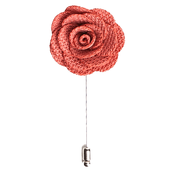 Blush Pink Rose Lapel Flower Pin