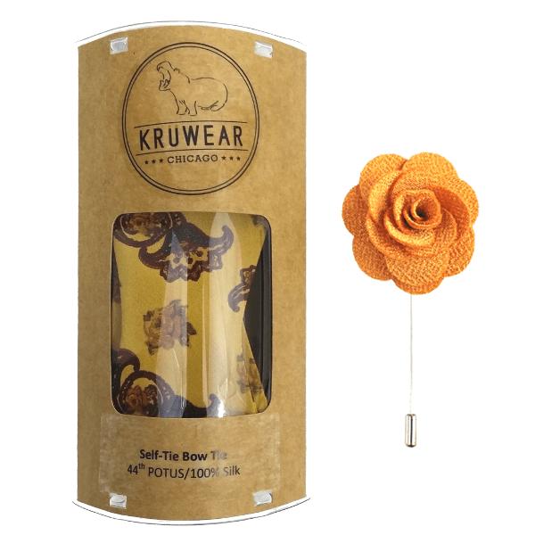 kruwear-potus-bow-tie-rose-yellow-mustard-lapel-flower-pin-gift-set
