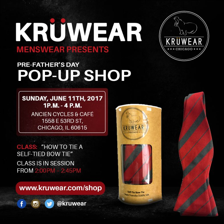 Kruwear Father's Day pop-up