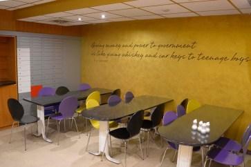Hostel Tresor breakfast area