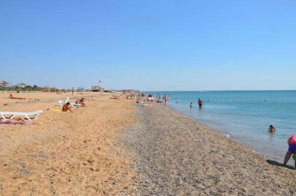 Пляжи города Саки. Крым