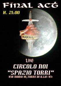 "KRYOSHEART live @ Circolo NOI ""Spazio Torri"""