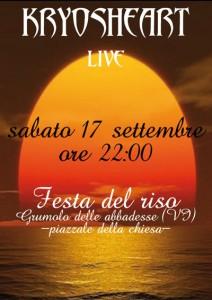 KRYOSHEART live @ Festa del Riso 2011