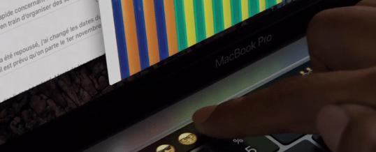Publicité TV du Nouveau MacBook Pro avec la Touch Bar