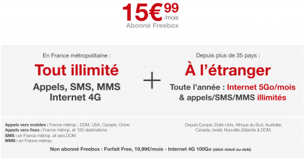 Le 1er forfait 4G illimité en France. Forcément, c'est chez Free !
