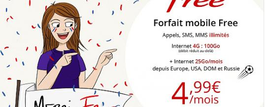 Forfait Free Mobile 100 Go à 4,99€ Sur Vente Privée
