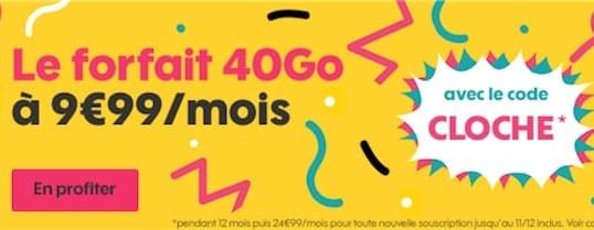[PROMO SOSH] Le forfait 40 Go à 9€99/ Mois ou 1 mois offert!